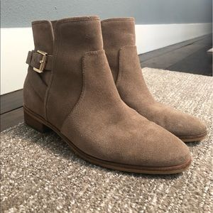 Leather/ suede booties